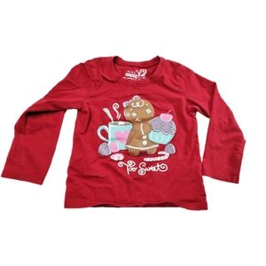 Children's Place Gingerbread Cupcake Top 3T